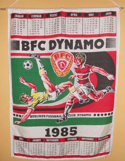 A BFC wall calendar from 1985 purchased on my visit to East Berlin that spring. I think I got this at a kiosk in the Friedrichstrasse station (photo: author).