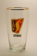 "BSG Lokomotive Stendal (16th place, 14 seasons, 356 points) were having none of these pseudo-champagne flutes. Here their nice ""down to earth"" pint glass!"